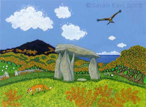 24 Golden autumn morning at Pentre Ifan
